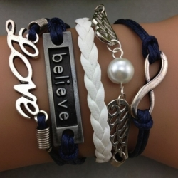 Believe & Love-armband