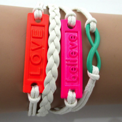 Believe & Love-armband – Colors